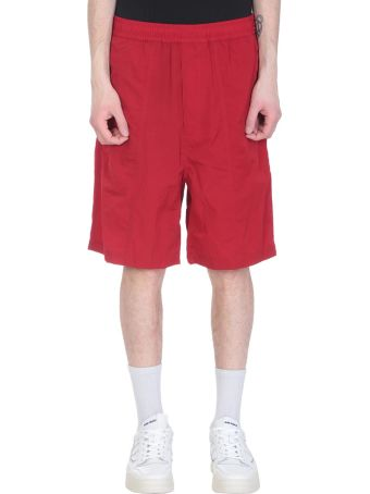 Ami Alexandre Mattiussi Red Polyamide Shorts