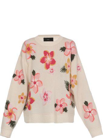 Alanui Flowers Intarsia Sweater