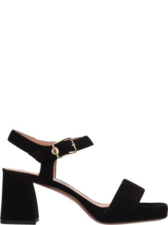 L'Autre Chose Black Suede Sandals