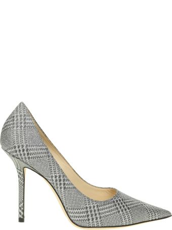 Jimmy Choo Decollete' Love 100 In Fabric Color Gray