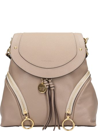See by Chloé Olga Grey Leather Backpack