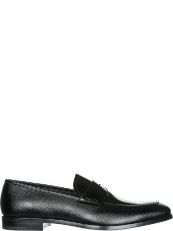 Prada  Leather Loafers Moccasins