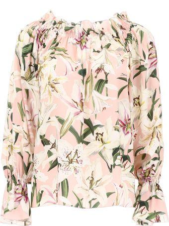 Dolce & Gabbana Lily Print Blouse