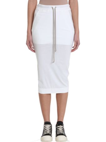 DRKSHDW Milk Cotton Long Skirt