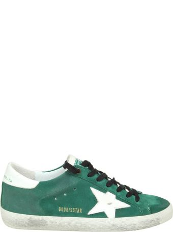 "Golden Goose ""superstar"" Sneakers In Green Suede"