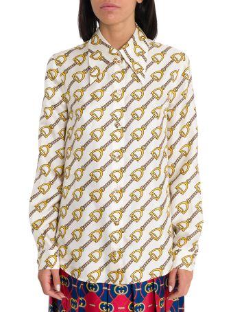 Gucci Stirrups Print Shirt