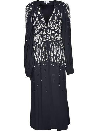 ATTICO V-neck Embellished Long Dress