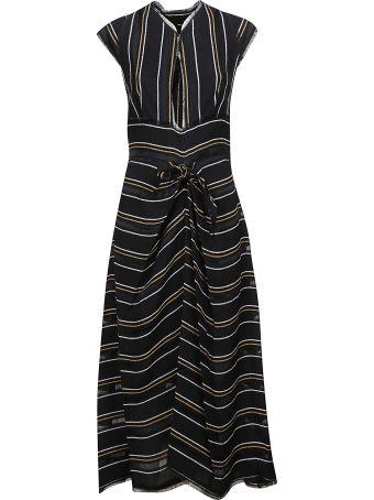 Proenza Schouler Gathered Stripe Dress