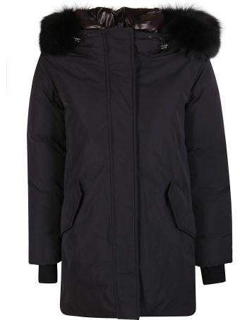 Woolrich Black Parka Coat