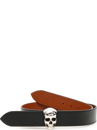 Alexander McQueen Reversible Skull Belt