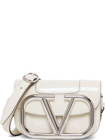 Valentino Small Shoulder Bag Super V Logo. 19x12x10