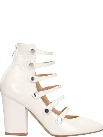 The Seller White Patent Leather Ankle Boots