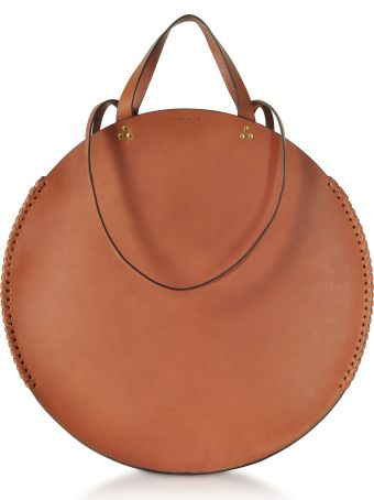 Jerome Dreyfuss Hector Gold Round Tote Bag