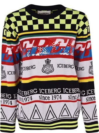 Iceberg Multipattern Logo Sweater