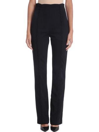 16arlington Black Buttons Cr?pe Pants