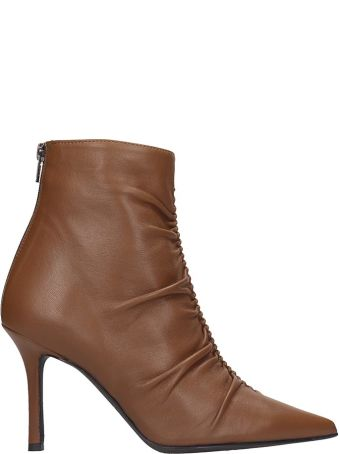 Marc Ellis Ankle Boots In Brown Leather