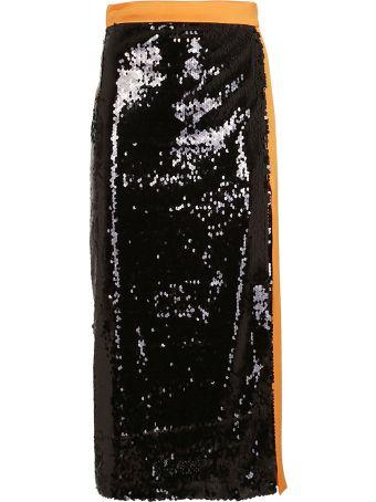 Brognano Sequin Coated Long Skirt