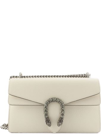 Gucci White Leather Dionysus Shoulder Bag