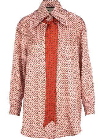 Gucci Gucci Silk Shirt With Stirrups Print