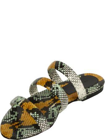 aeyde Chrissy Snake Print