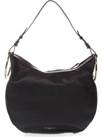 Gianni Chiarini Black Leather Shoulder Bag