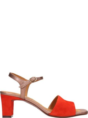 Chie Mihara Orange Suede And Leather Sandals