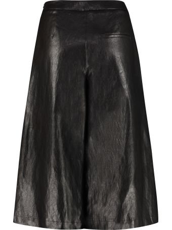 Boutique Moschino Faux Leather Wide-leg Trousers