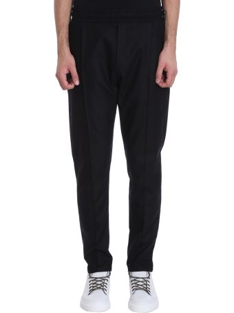 Low Brand Black Wool Pants