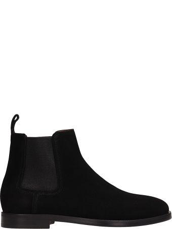 Lanvin Black Suede Chelsea Ankle Boots