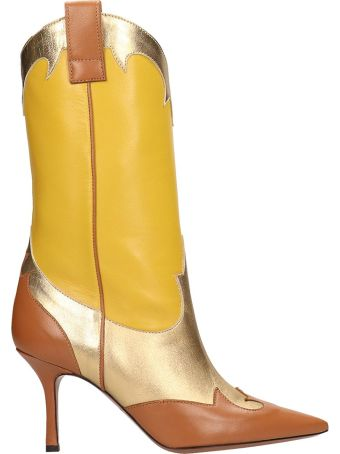 Marc Ellis Tex  Gold Yellow Boots