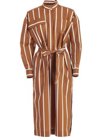 SEMICOUTURE Erika Cavallini Striped Dress