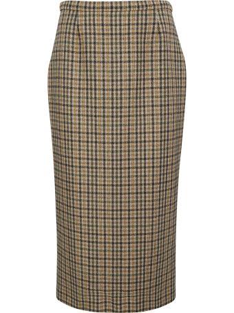 Rochas Checked Pencil Skirt