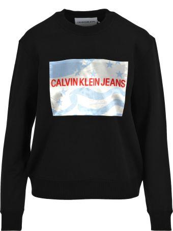 Calvin Klein Jeans Flag Crew Neck