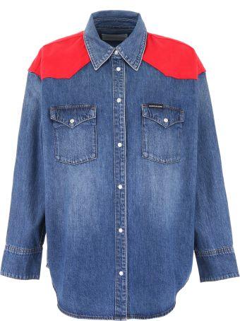 Calvin Klein Jeans Western Denim Shirt With Inserts