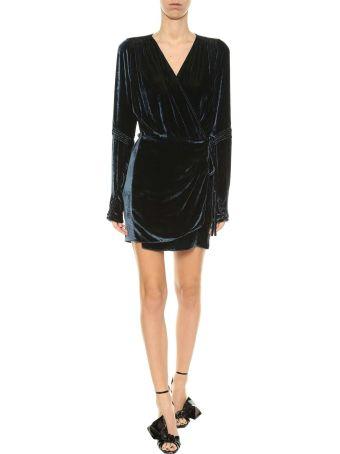 ATTICO Velvet Robe Dress