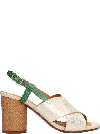 Chie Mihara Gold Metallic Leather Sandals