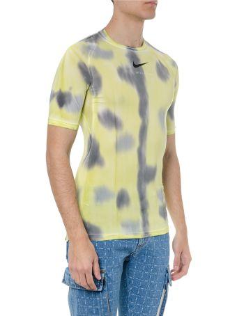 Alyx Yellow 1017 Alyx Nike Pro Technical Fabric T-shirt