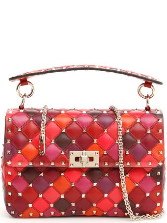 Valentino Patchwork Medium Rockstud Spike Bag