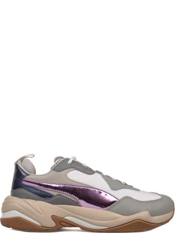 Puma Gray/white/purple Thunder Electric Sneakers