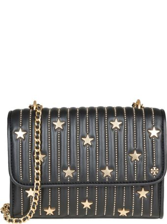 c95898a4d698 Tory Burch Fleming Star-stud Small Bag In Leather With Applied Studs