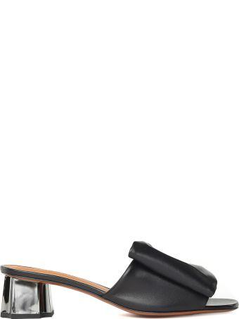 Robert Clergerie Lendy Metal-heel Leather Mules
