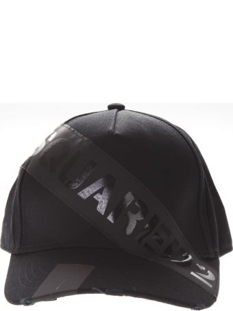 Dsquared2 Dsq2 Black Cotton Hat