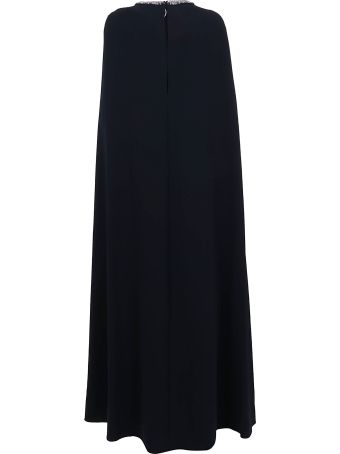 Marchesa Beaded Embroidered Crepe Cape