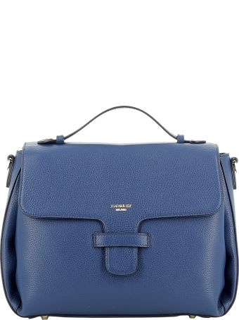 Avenue 67 Blue Leather Handbag
