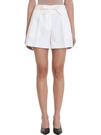 Jil Sander Giles White Cotton Shorts