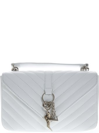 Marc Ellis Danaras Shoulder Bag In White Leather