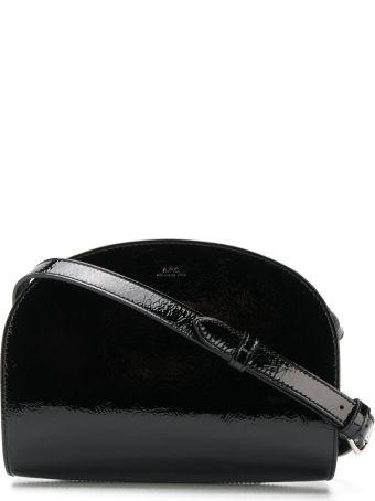 A.P.C. Glossy Half-moon Shape Shoulder Bag