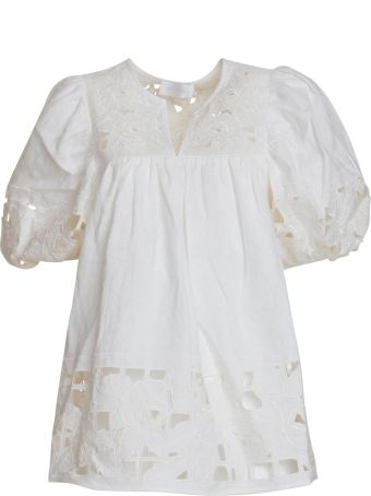 Zimmermann Broderie Anglaise Blouse In White