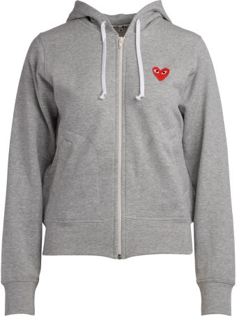 Comme des Garçons Play Comme Des Garcons Play Grey Fleece With Red Hearts