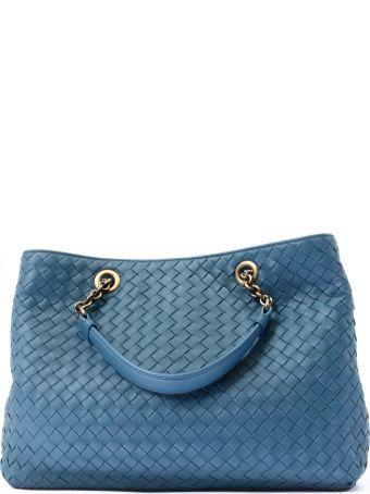 Bottega Veneta Woven Shopper Bag Blue